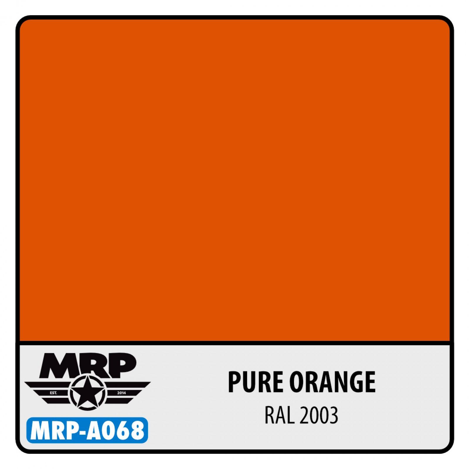 MRP-A068  Pure Orange RAL 2004