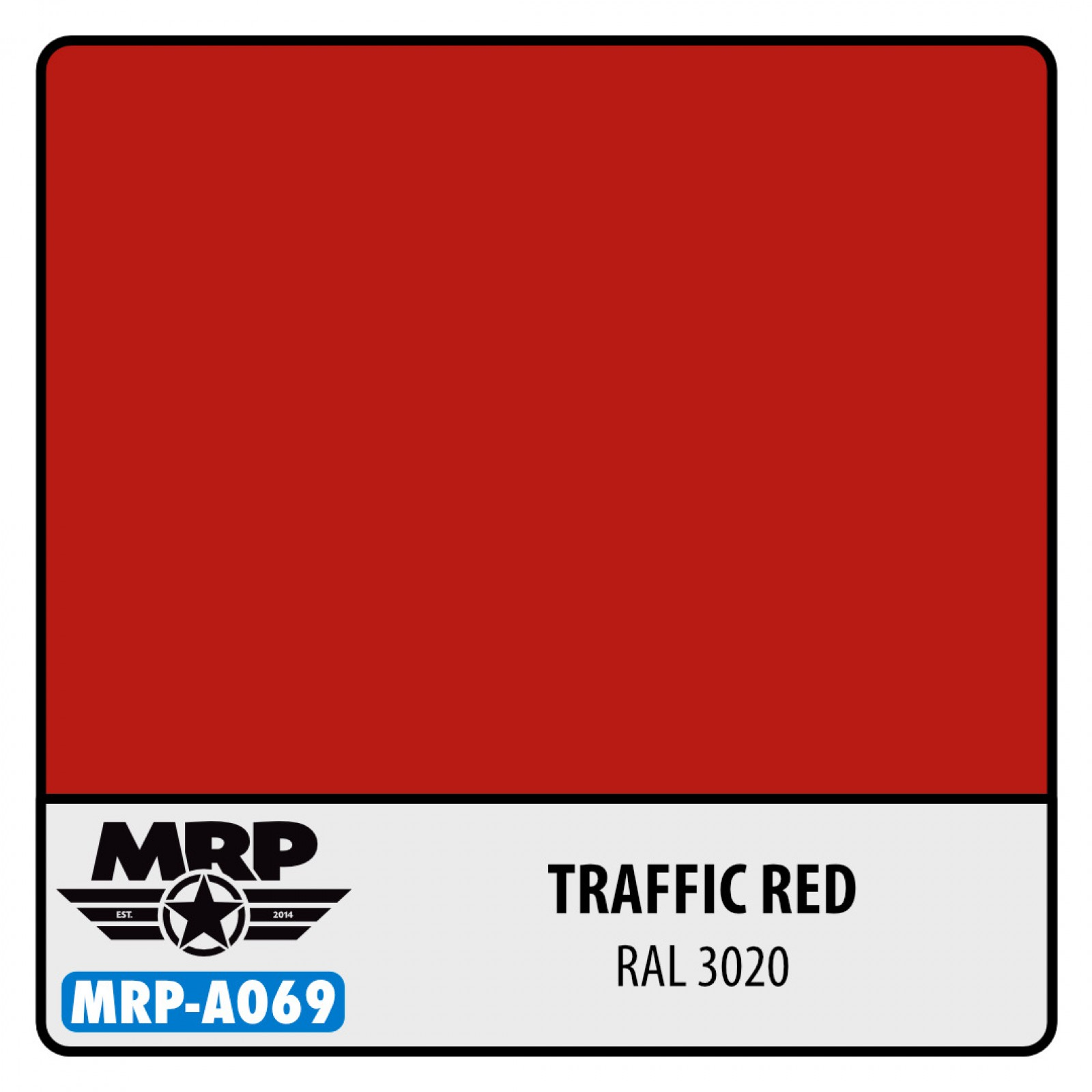 MRP-A069  Traffic Red RAL 3020