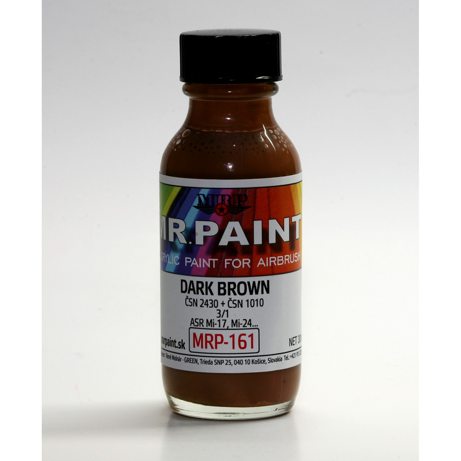 MRP-161  DARK  BROWN   ČSN 24301/ČSN 1010